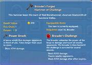 Brawler's Forged Hammer of Challenge item