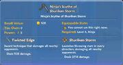 Ninja's Scythe of Shuriken Storm item
