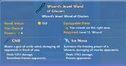 Wizard's Jewel Wand of Glaciers item