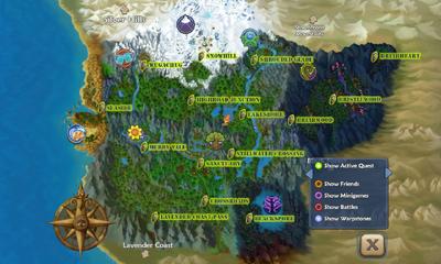 Map warpstones
