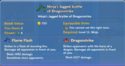 Ninja's Jagged Scythe of Dragonstrike item