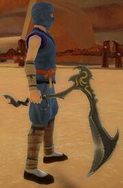 Ninja's Jagged Scythe of Solar Flare held