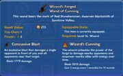 Wizard's Forged Wand of Cunning item