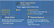 Ninja's Jagged Scythe of Solar Flare item
