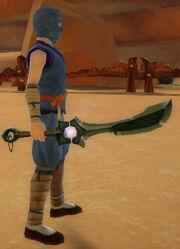 Ninja's Shadow Blade of Shadow Armies held