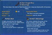 Archer's Forged Bow of Advantage item