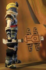 Warrior's Double Axe of Warcry held