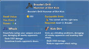 Brawler's Drill Hammer of Dirt Kick item