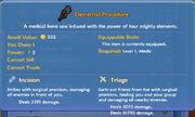 Elemental Procedure item