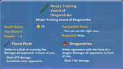 Ninja's Training Sword of Dragonstrike item