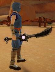 Ninja's Shadow Blade of Shuriken Storm held