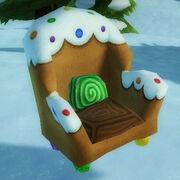 Gingerbread cookie armchair