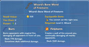 Wizard's Bone Wand of Firestorm item