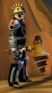 Brawler's Drill Hammer of Chucking held