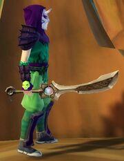 Ninja's Shadow Blade of 1000 Storms held