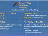 Brawler's Atlas Hammer of Rumbling