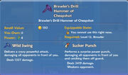 Brawler's Drill Hammer of Cheapshot item