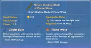 Ninja's Shadow Blade of Flame Wave item
