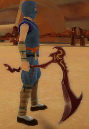 Ninja's Jagged Scythe of Dragon Breath held