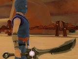 Ninja's Shadow Blade of Flame Wave