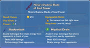 Ninja's Shadow Blade of Soul Power item