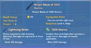 Ninja's Blade of 1000 Storms item