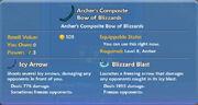 Archer's Composite Bow of Blizzards item