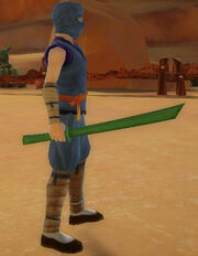 Ninja's Training Sword of Dragonstrike held