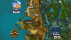 Map seaside