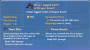 Ninja's Jagged Scythe of Dragon Breath item