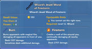 Wizard's Jewel Wand of Firestorm item