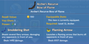 Archer's Recurve Bow of Flame item