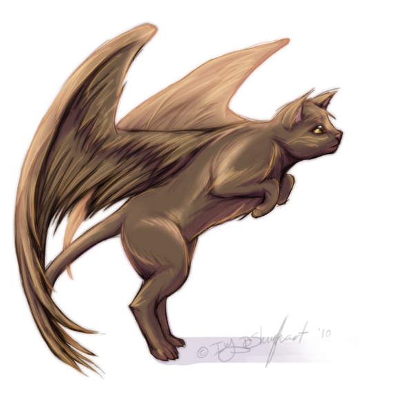 Warriors Imagine Dragons Game: Image - Ukitah A Cat With Wings By MutationIvo.png