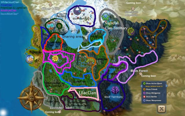 Clan Territory Map | Free Realms Warrior Cats Wiki | FANDOM