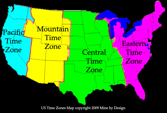 Map Of Usa Showing Time Zones | Aahealthcare
