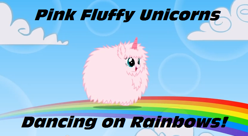 Image - Pink fluffy unicorns dancing on rainbows by