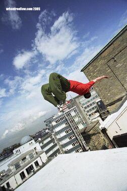Backflip off roof