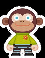 Kint doll monkey