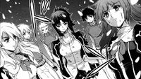 Holly, Louis, Julia, her Limiter, Kyoichi and Cassie