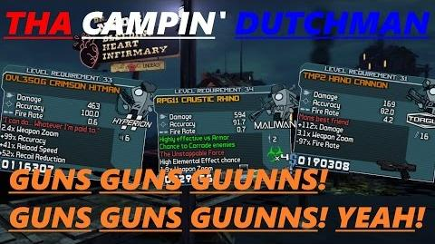 Borderlands Guns, guns, guunns! GUNS GUNS GUUNNS! YEAH! (Let's play 43)