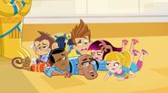 Fresh Beat Band of Spies Cast Characters Nickelodeon Twist Kiki Shout Marina Commissioner Goldstar Mummy Mayhem Nick Jr