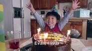 Evan is second three