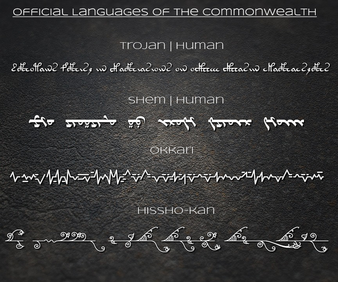 Official languages of the commonwealth