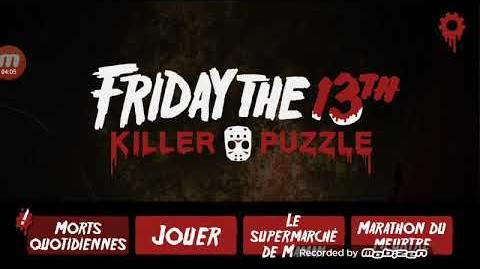 Friday the 13th killer puzzle daily december 7 2018 (Jason fantôme step 13)