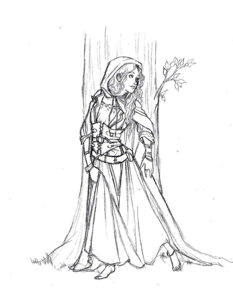 medieval princess coloring pagesjpg - Medieval Coloring Pages