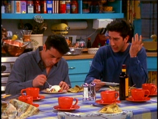 The One Where Ross Got High | Friends Central | FANDOM powered by ...Joey eats Rachel's trifle.