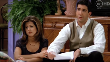 Rachel and Ross in Living Room