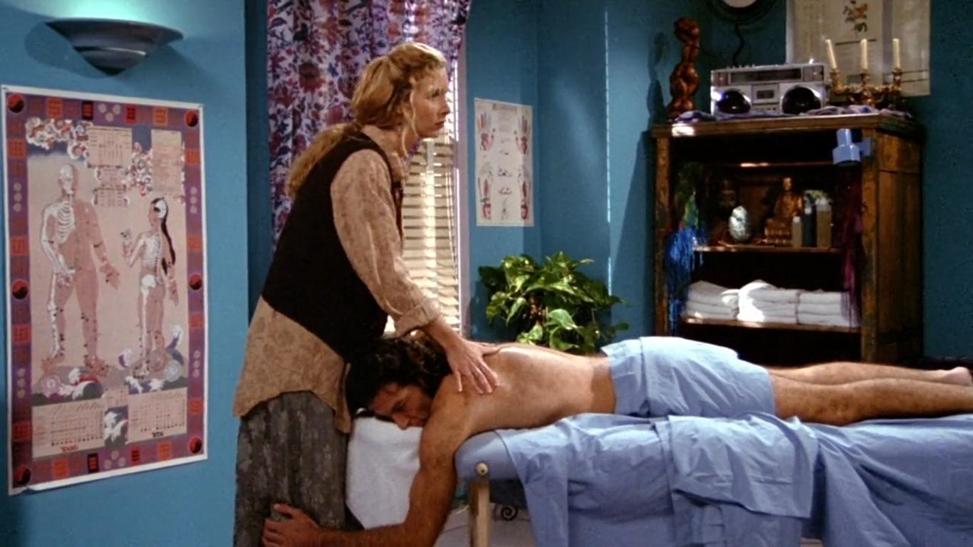 Mature butt massage