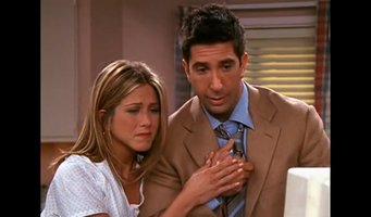 Did ross and rachel hookup in real life