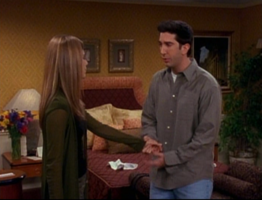 Ross and Rachel in Hotel Room